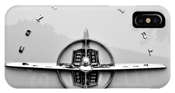 Lincoln Continental iPhone Case - 1956 Lincoln Continental Rear Emblem by Jill Reger