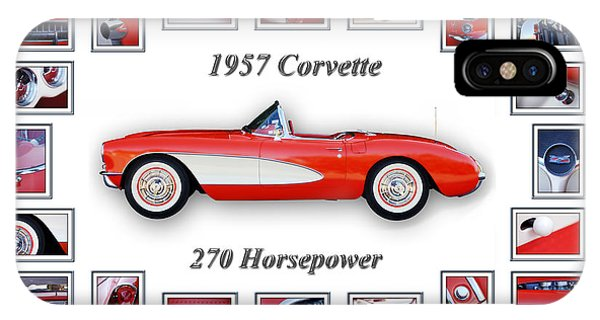 IPhone Case featuring the photograph 1957 Chevrolet Corvette Art by Jill Reger