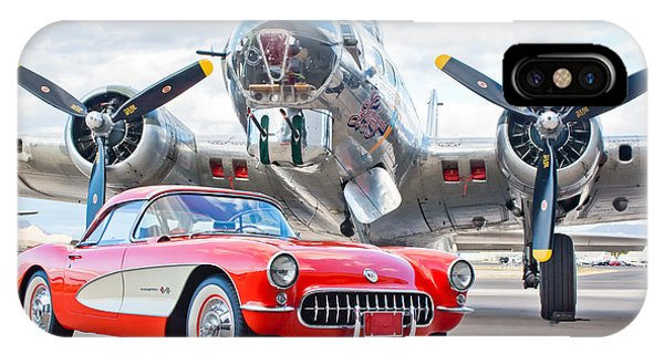 IPhone Case featuring the photograph 1957 Chevrolet Corvette by Jill Reger