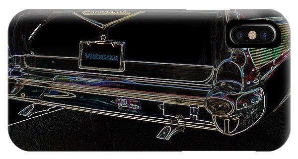 1957 Chevrolet Rear View Art Black_varooom Tag IPhone Case