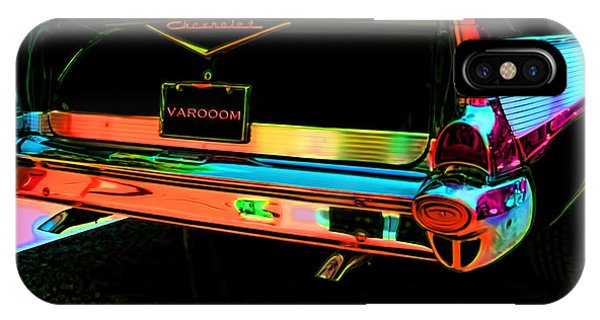 1957 Chevy Art Red Varooom IPhone Case