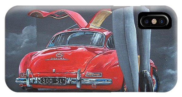 1957 Mercedes Benz 300 Sl Gullwing Coupe IPhone Case