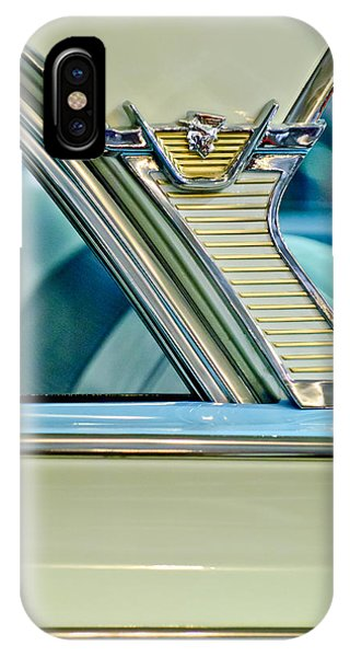 Monterey iPhone Case - 1957 Mercury Monterey Sedan Emblem by Jill Reger