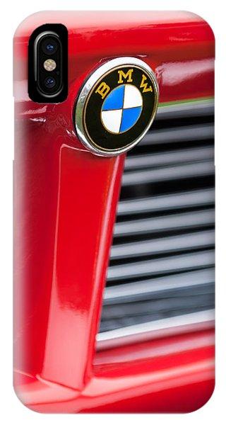 1958 iPhone Case - 1958 Bmw 3200 Michelotti Vignale Roadster Grille Emblem -2414c by Jill Reger