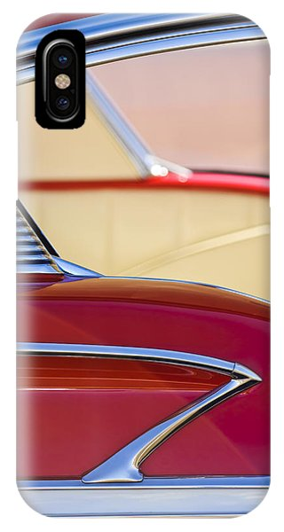 1958 iPhone Case - 1958 Chevrolet Belair Abstract by Jill Reger