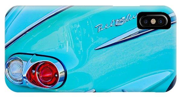 1958 iPhone Case - 1958 Chevrolet Belair Taillight 2 by Jill Reger