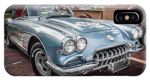 1958 Chevy Corvette Painted IPhone Case