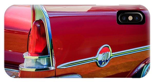 1958 iPhone Case - 1958 Chrysler 300d Convertible Taillight Emblem -2972c by Jill Reger