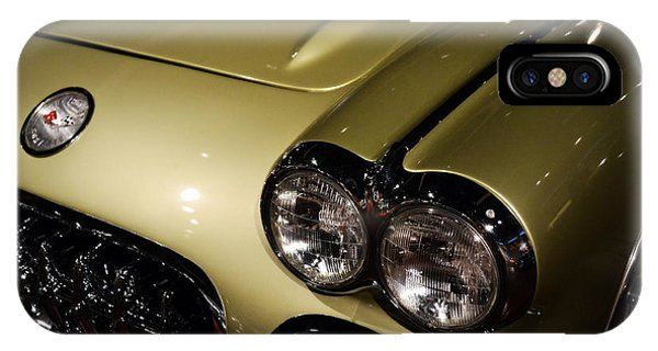 Light Paint iPhone Case - 1958 Fancy Free Corvette J58s by Michelle Calkins