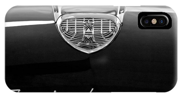 1958 iPhone Case - 1958 Ford Fairlane 500 Victoria Hood Emblem by Jill Reger