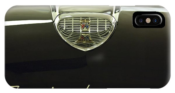 1958 iPhone Case - 1958 Ford Fairlane 500 Victoria Hood Ornament by Jill Reger