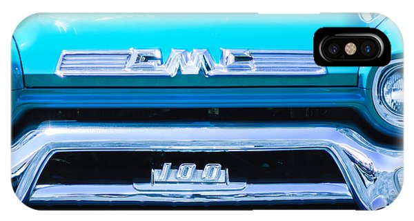 1958 iPhone Case - 1958 Gmc Series 101-s Pickup Truck Grille Emblem by Jill Reger