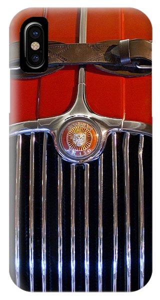 1958 iPhone Case - 1958 Jaguar Xk150 Roadster Grille Emblem by Jill Reger