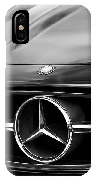 1958 iPhone Case - 1958 Mercedes-benz 300sl Roadster Grille Emblem by Jill Reger