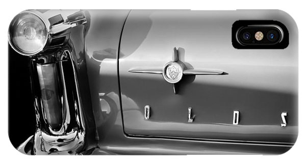 1958 iPhone Case - 1958 Oldsmobile 98 Taillight Emblem by Jill Reger
