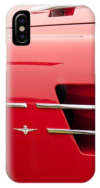 1958 iPhone Case - 1958 Pegaso Z-103 Touring Berlinetta Side Emblem -1195c by Jill Reger