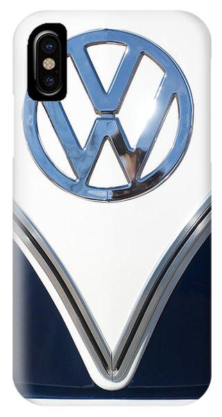 1958 iPhone Case - 1958 Volkswagen Vw Bus Emblem by Jill Reger