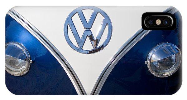 1958 iPhone Case - 1958 Volkswagen Vw Bus Hood Emblem by Jill Reger