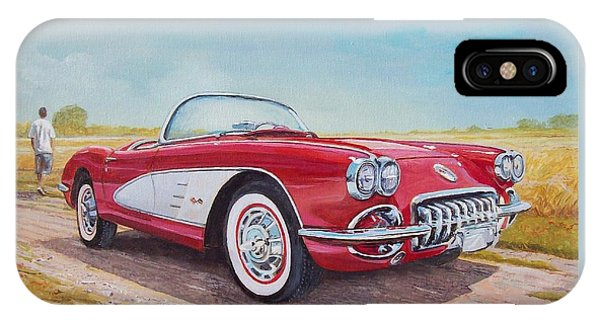 1959 Chevrolet Corvette Cabriolet IPhone Case