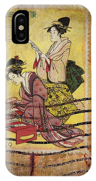 1959 Japanese Postcard Mail IPhone Case
