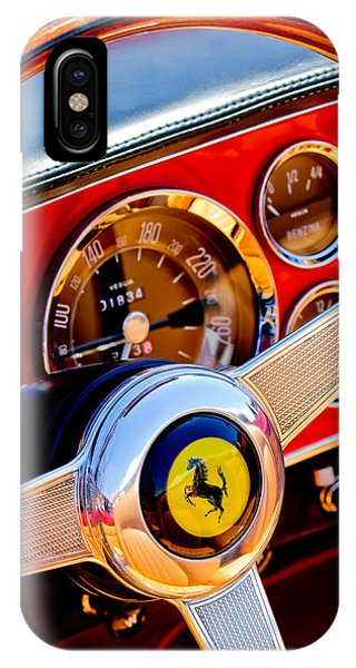 1960 Ferrari 250 Gt Cabriolet Pininfarina Series II Steering Wheel Emblem -1319c IPhone Case