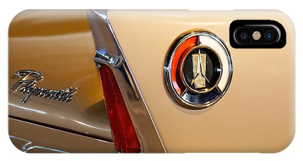 Fury iPhone Case - 1960 Plymouth Fury Convertible Taillight And Emblem by Jill Reger