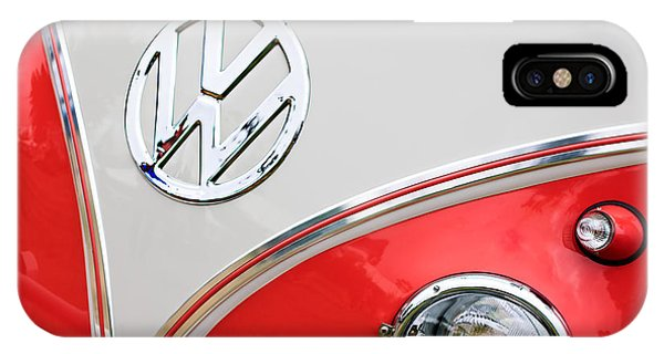 1960 Volkswagen Vw 23 Window Microbus Emblem IPhone Case