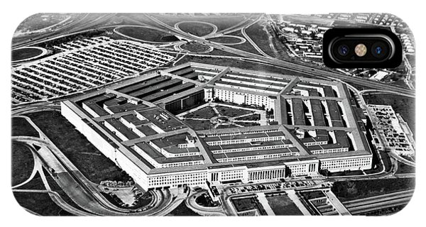 Department Of Defense iPhone Case - 1960s Aerial View Of Army Pentagon by Vintage Images