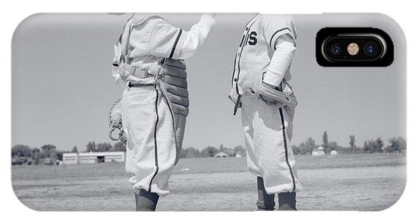 1960s Boy Little Leaguer Pitcher IPhone Case