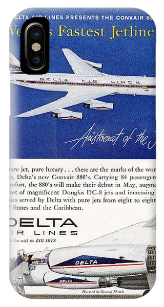 1960s Delta Convair 880 Ad IPhone Case