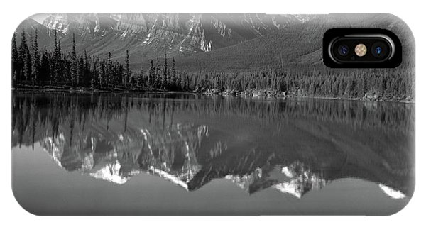Rocky Mountain Np iPhone Case - 1960s Lake In Rocky Mountains Canada by Vintage Images