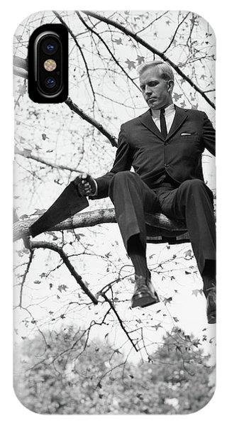 1960s Man In Tree Branch Limb IPhone Case