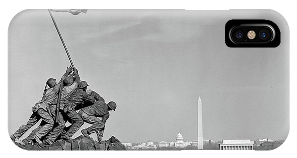 Capitol Building iPhone Case - 1960s Marine Corps Monument by Vintage Images