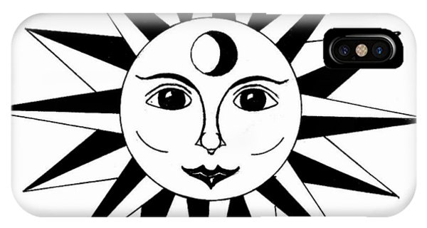 1960's Sun Figure IPhone Case