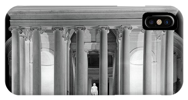 Jefferson Memorial iPhone Case - 1960s Thomas Jefferson Memorial Lit by Vintage Images