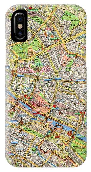 1961 Berlin Map IPhone Case