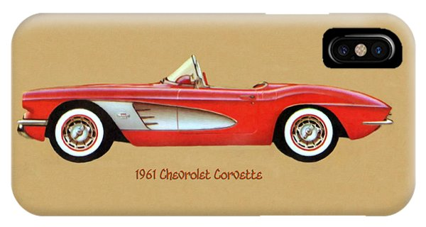 1961 Chevrolet Corvette IPhone Case