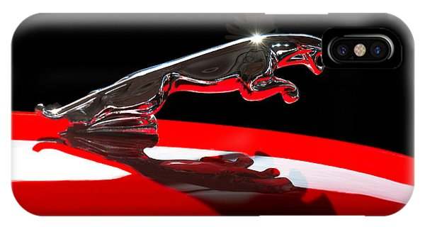 1961 Jaguar Kougar Hood Ornament -0569c IPhone Case