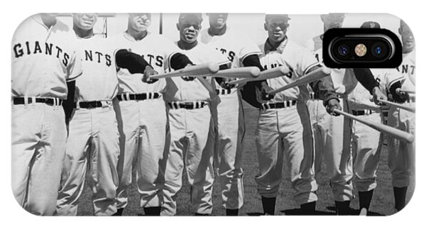 Baseball Bats iPhone Case - 1961 San Francisco Giants by Underwood Archives