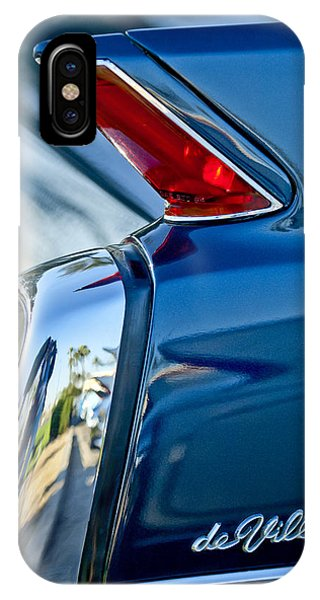 IPhone Case featuring the photograph 1962 Cadillac Deville Taillight by Jill Reger