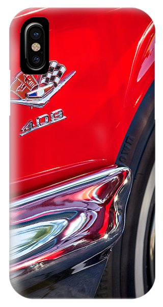 1962 Chevrolet Impala Ss 409 Emblem IPhone Case