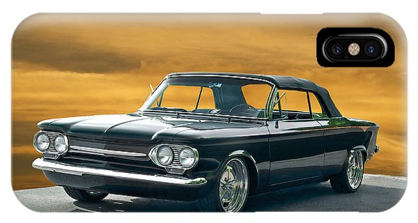 Corvair iPhone Case - 1962 Corvair Cosa Convertible by Dave Koontz
