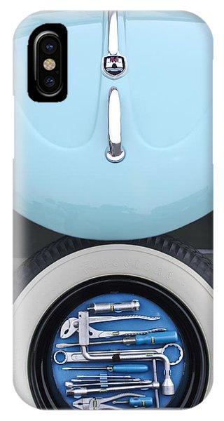 Volkswagen iPhone Case - 1962 Volkswagen Vw Bug Tool Kit by Jill Reger