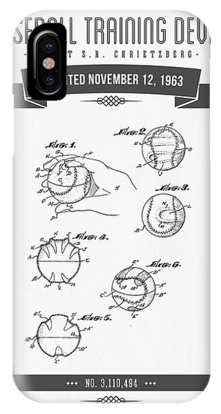 1963 Baseball Training Device Patent Drawing IPhone Case