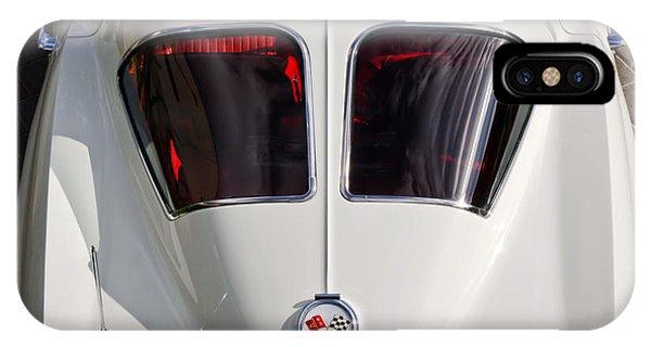 Coupe iPhone Case - 1963 Chevrolet Corvette Split Window -399c by Jill Reger