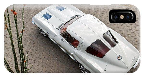 Coupe iPhone Case - 1963 Chevrolet Corvette Split Window -440c by Jill Reger