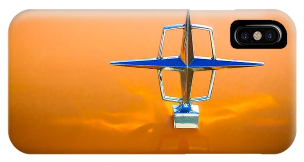 Lincoln Continental iPhone Case - 1963 Lincoln Continental Hood Ornament by Jill Reger