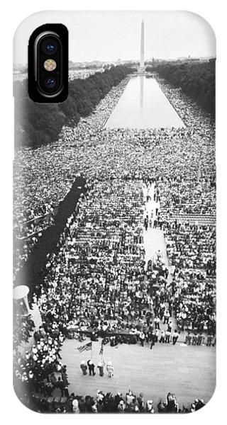 Lincoln Memorial iPhone Case - 1963 March On Washington by Warren Leffler