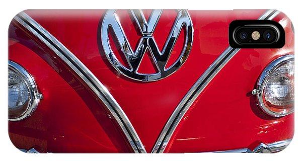Volkswagen iPhone Case - 1964 Volkswagen Vw Double Cab Emblem by Jill Reger