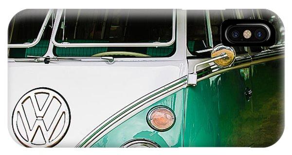 Volkswagen iPhone Case - 1964 Volkswagen Vw Samba 21 Window Bus by Jill Reger